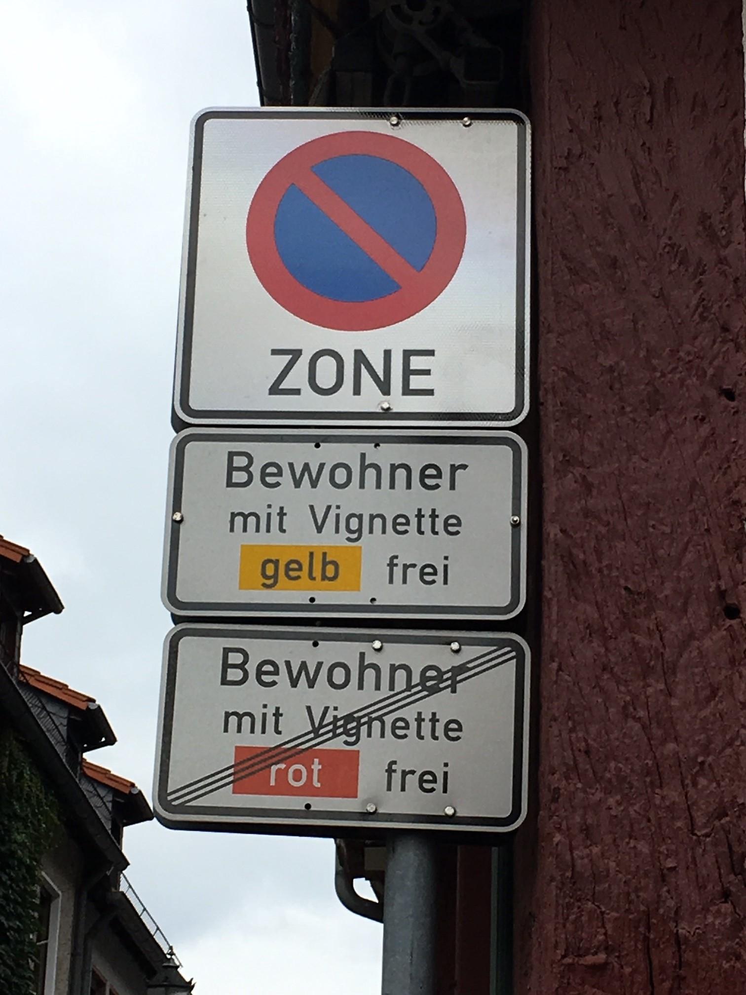 Verkehrszeichen Bewohnerparken