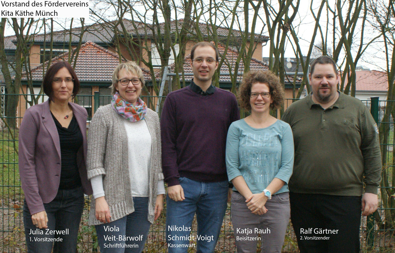 Vorstand des Fördervereins Kita Käthe Münch