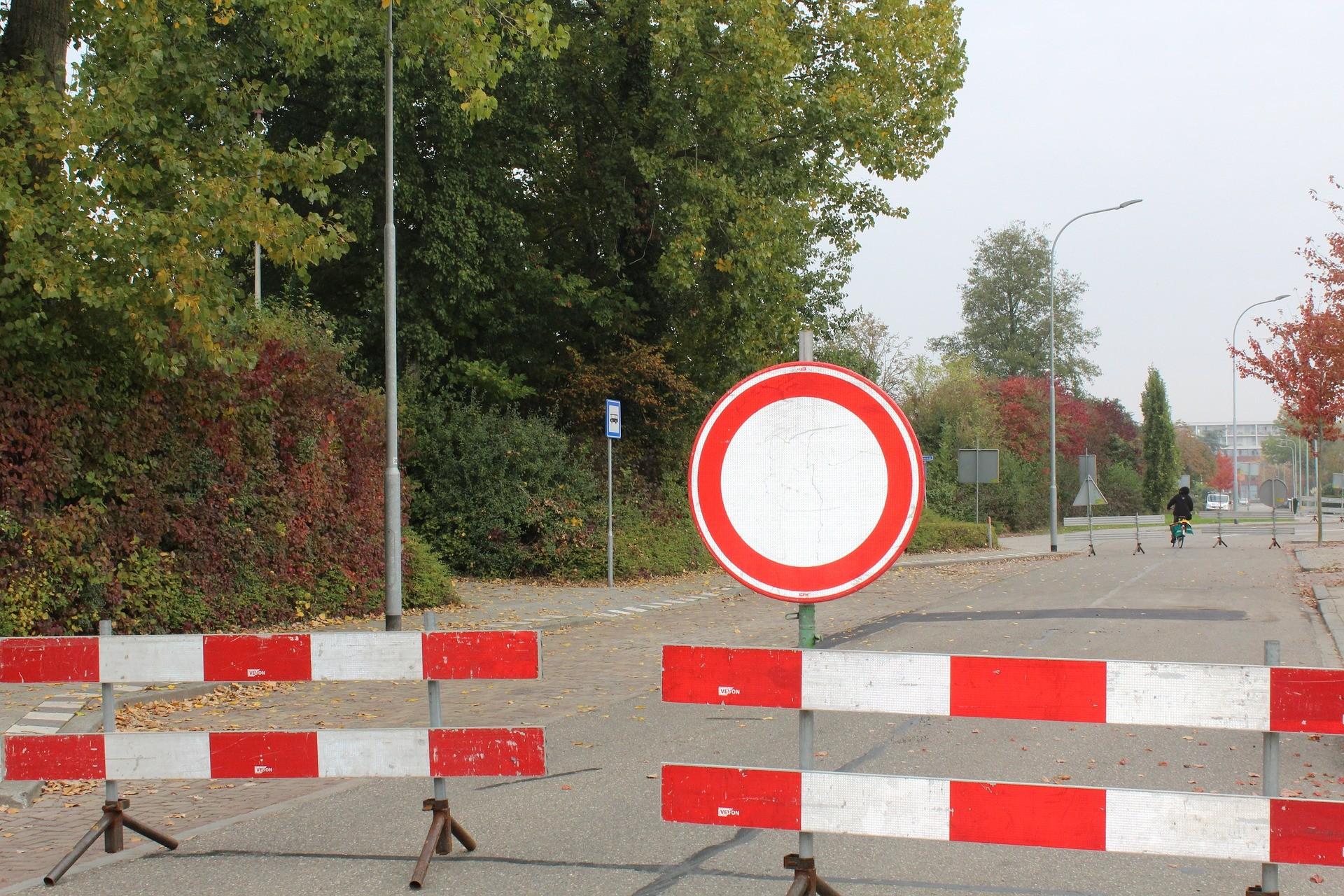 Abbildung einer Straßensperre